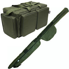 NGT Carp Fishing 2+2 12ft Rod Holdall with LargeSession Carryall Tackle Bag