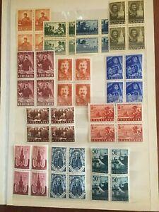 Bulgaria Stamps Block of 4 Stalin Lenin Marx 6 Full Sets 1948-1953 MNH