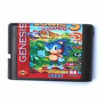 Sega Genesis Sonic The Hedgehog 3 Game Complete Tested 16 bit Mega Drive