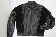 Vintage 80s THE AMERICAN MALE Black Leather Jacket 40 International Collection