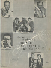 Rare 1960 Hohner Chromatic Harmonica Instruction Booklet