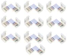 10 x LED RGB Strip Eckverbinder Schnellverbinder Steckverbinder L Verbinder Set