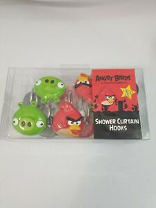 Angry Birds Set Of 12 Shower Curtain Hooks New In box by Rovio Entertainment