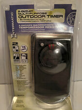 INTERMATIC Multipurpose Outdoor Timer 2 Outlet HB350RCH 15 AMPS New in package
