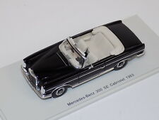 1/43 Spark Street Mercedes-Benz 300 SE Cabriolet from 1963 in Black   S1061