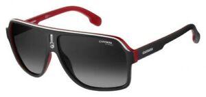 NEW Carrera CA 1001 Sunglasses 0BLX Matte Black Red 100% AUTHENTIC