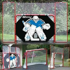 """New listing 2"""" Steel Folding Hockey Goal With Backstop, Shooter Tutor & Targets"""