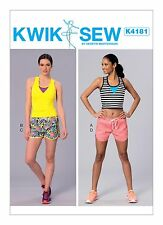 Kwik Sew SEWING PATTERN K4181 Misses Tops & Shorts XS-XL