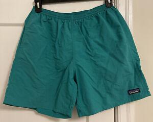 "Patagonia Baggies Logo 6"" Nylon Drawstring Mesh Lined Shorts Men Sz M!"