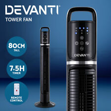 Devanti Tower Fan With Remote 80cm Oscillating Timer Portable Fans Bladeless