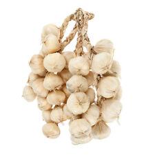 5pcs Artificial Hanging Garlic Bunch Realistic Garlic Kitchen Decor Creamy