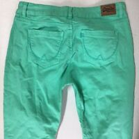 Ladies SuperDry Super Skinny Bright Green Jeans  W30  L32 Uk 10 (688a)