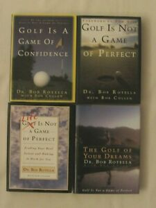 LOT OF 4 DR. BOB ROTELLA GOLF BOOKS, GOLF IS A GAME, HARDCOVER