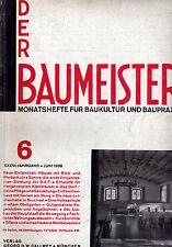 DER BAUMEISTER June 1938 Bauhaus era Design Architecture and Interiors 1930s