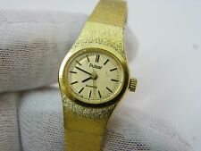 PULSAR, Gold Plated, Safety Chain, LADIES WATCH,349,L@@K