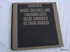 GRAVURA DAREL VALENCA LINS, ED.SUED, I.CAMARGO, O.ARAUJO 1973
