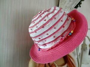 Hübscher Hut + Sommerhut für Mädchen oder Himstedt / Günzel Puppen