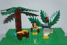 LEGO HAWAIIAN SCENE INCLUDING MINIFIGURE,PARROT,PALMTREE AND MORE BRAND NEW!