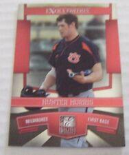 HUNTER MORRIS RC 2010 Donruss Elite baseball card 8 BREWERS AUBURN TIGERS AL EEE