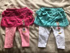"""Lot Of 2 NEW """"GARANIMALS"""" BABY GIRL LEGGINGS WITH SKIRT """"SKEGGING"""" 3-6 Month"""