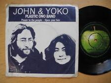 "JOHN LENNON YOKO Power To The People / Open Your Box 45 7"" 1971 Sweden EX"