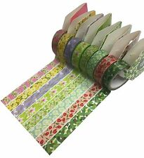 Washi Tapes- 8 Flower Combo Set- 15mm by 5m