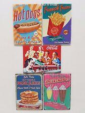 American Diner Hot Dog Fries Cola Pancakes Shakes Novelty Fridge Magnet Gift Set