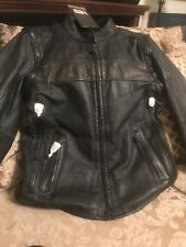 Harley Davidson Willie G L.  Edition Med. Convertible Leather Jacket 97157-17VM