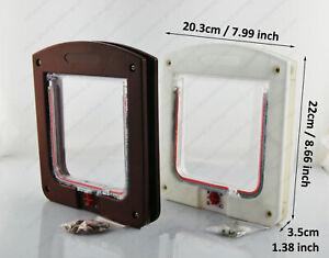 4 Way Lock Lockable Pets Flap Door Fit for Dog Cat Small PP Plastic