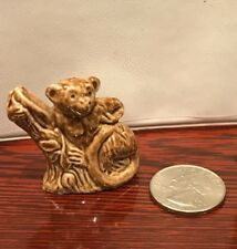 Brown MONKEY LEMUR by WADE England Miniature Figurine Glaze Red Rose Tea 1970