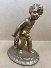 "Vintage Antique - VERONA 736 - Metal Boy Statue - 7.5"" Tall - Free Shipping"