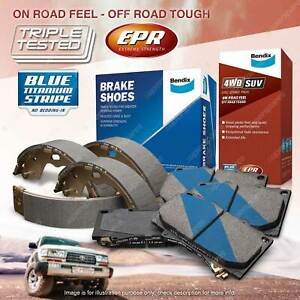 Bendix 4WD Brake Pads Shoes Set for Mitsubishi Triton ML MN 2.5 3.5 MQ MR 2.4