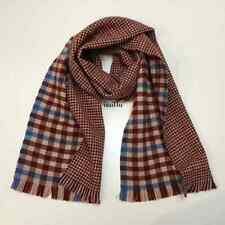 J.Crew Double-Faced Plaid And Houndstooth Scarf NWT 100% Wool
