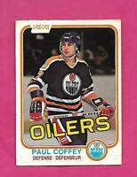 1981-82 OPC # 111 OILERS PAUL COFFEY  ROOKIE GOOD CARD (INV# D3436)
