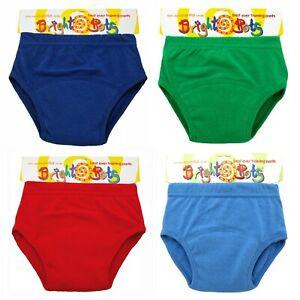 Bright Bots 4 Washable Potty Training Pull Up Pants Boy Mix EX Large 30-36m