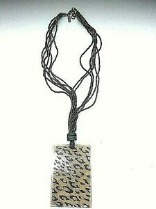 East Ethnic  Black Tribal Necklace Animal print Pendant