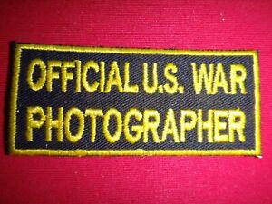Vietnam War Tab Patch OFFICIAL U.S. WAR PHOTOGRAPHER