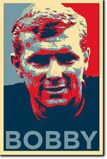 BOBBY MOORE ART PHOTO PRINT (OBAMA HOPE) POSTER GIFT 1966 WORLD CUP ENGLAND