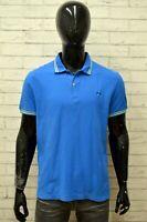 Polo LOTTO Uomo Taglia Size XL Maglia Maglietta Camicia Shirt Man Cotone Blu