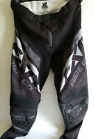 FXR MX  MOTOCROSS OFFROAD RIDING PANTS 32 DIRTBIKE ATV QUAD BLACK AND GREY