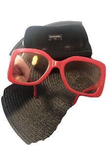 Chanel Damen Brille Rot mit Etui