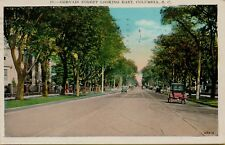 1943 Gervais Street View Looking East in Columbia SC Postcard C10