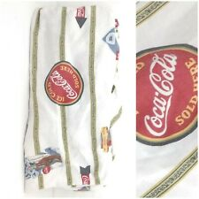 Vintage Coca Cola Retro Bedding Twin Fitted Sheet USA Elastic Beverage Signs
