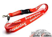 Supreme Red Lanyard Key Harness Fits Honda Nissan Toyota Mitsubishi Suzuki Mazda