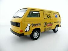 VW T3 Van Bundy Custom Graphics Applied Yellow Diecast Van