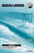 Sea-Doo Owners Manual Book 2012 180 CHALLENGER