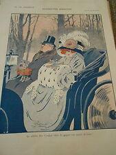 Silhouettes Sportives Le Célèvre Jim Crocker match de Boxe Print Art Déco 1908