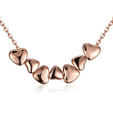 Rose Gold Plated Necklace Women's Pendant Heart Lobster Clasp B150