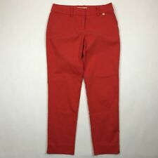 "Trina Turk Women Orange Slim Ankle Pants sz 2 (Actual 29"" W)"