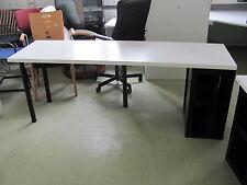 IKEA Schreibtisch Bürotisch Tisch CARB P2 501.036.04 200x60xH73cm Ablage rechts